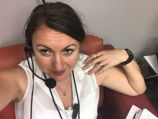 Back in the reality-tv headset
